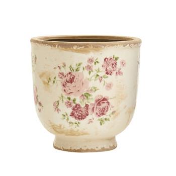 7.5 Tuscan Ceramic Floral Print Planter - SKU #0185-S1