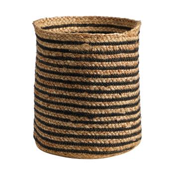 13.5 Handmade Natural Jute Basket - SKU #0322-S1