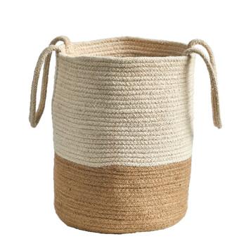 12 Handmade Natural Cotton Woven Basket - SKU #0325-S1