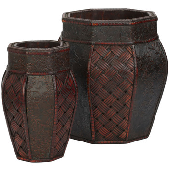 Design and Weave Panel Decorative Planters Set of 2 - SKU #0517