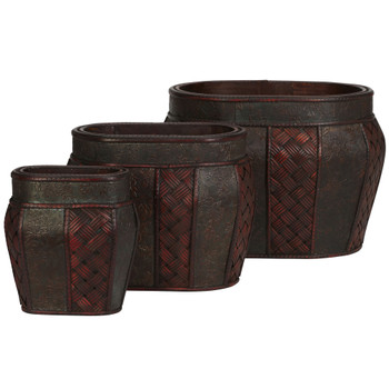 Oval Decorative Planter Set of 3 - SKU #0518