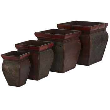 Square Planters w/Rim Set of 4 - SKU #0523