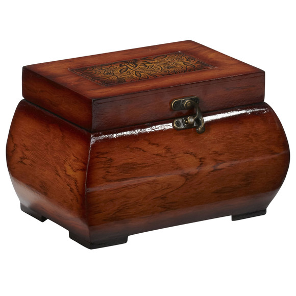Decorative Lacquered Wood Chests Set of 2 - SKU #0527 - 4