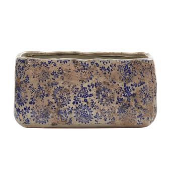 10 Tuscan Ceramic Rectangle Planter - SKU #0718-S1