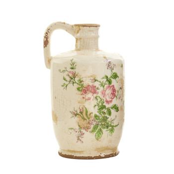 10 Tuscan Ceramic Floral Print Pitcher - SKU #0724-S1