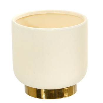 8 Elegance Ceramic Planter with Gold Accents - SKU #0759-S1