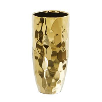 10 Designer Gold Cylinder Vase - SKU #0761-S1