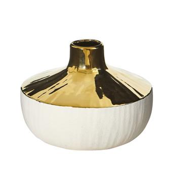 8 Elegance Ceramic Decorative Vase with Gold Accents - SKU #0766-S1