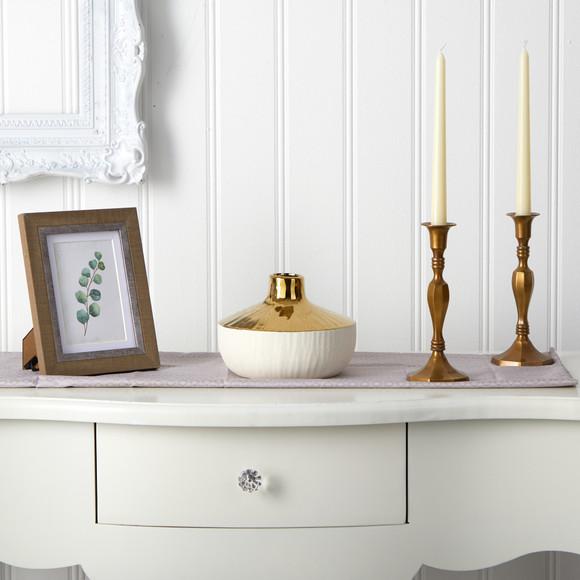 8 Elegance Ceramic Decorative Vase with Gold Accents - SKU #0766-S1 - 2
