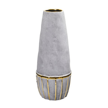 15 Regal Stone Decorative Vase with Gold Accents - SKU #0771-S1