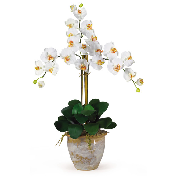 Triple Stem Phalaenopsis Silk Orchid Arrangement - SKU #1017 - 5