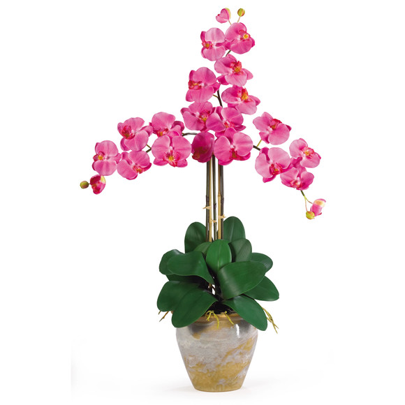 Triple Stem Phalaenopsis Silk Orchid Arrangement - SKU #1017 - 3