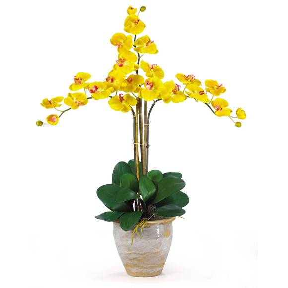 Triple Stem Phalaenopsis Silk Orchid Arrangement - SKU #1017 - 4