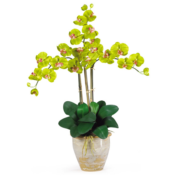 Triple Stem Phalaenopsis Silk Orchid Arrangement - SKU #1017 - 7