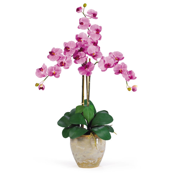 Triple Stem Phalaenopsis Silk Orchid Arrangement - SKU #1017 - 6