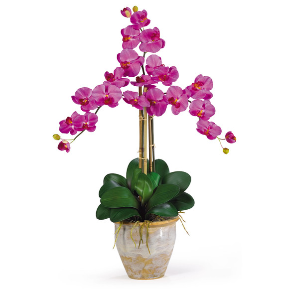 Triple Stem Phalaenopsis Silk Orchid Arrangement - SKU #1017 - 1