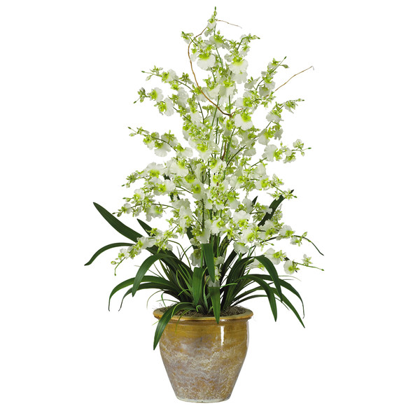 Triple Dancing Lady Silk Flower Arrangement - SKU #1070 - 2