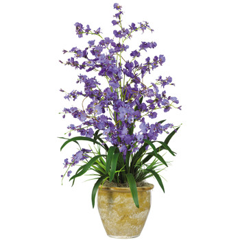 Triple Dancing Lady Silk Flower Arrangement - SKU #1070