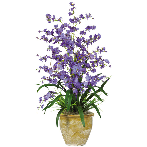 Triple Dancing Lady Silk Flower Arrangement - SKU #1070-PP