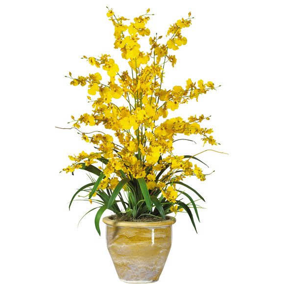 Triple Dancing Lady Silk Flower Arrangement - SKU #1070 - 1