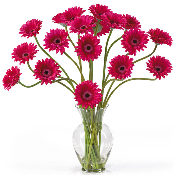 Gerber Daisy Liquid Illusion Silk Flower Arrangement - SKU #1086