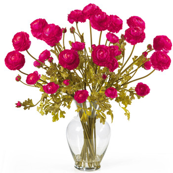 Ranunculus Liquid Illusion Silk Flower Arrangement - SKU #1087
