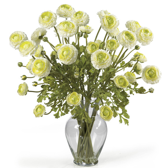 Ranunculus Liquid Illusion Silk Flower Arrangement - SKU #1087 - 2
