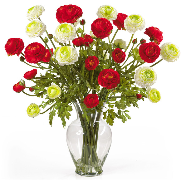 Ranunculus Liquid Illusion Silk Flower Arrangement - SKU #1087 - 3