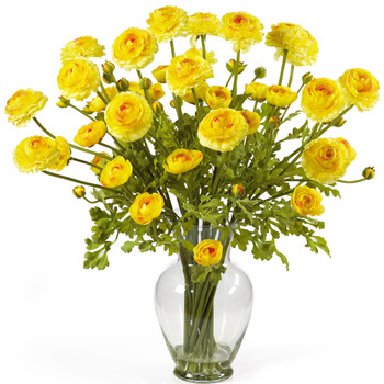 Ranunculus Liquid Illusion Silk Flower Arrangement - SKU #1087-YL