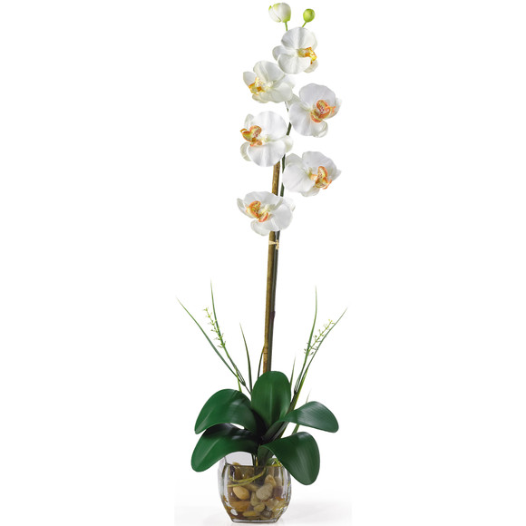 Single Phalaenopsis Liquid Illusion Silk Flower Arrangement - SKU #1104 - 5