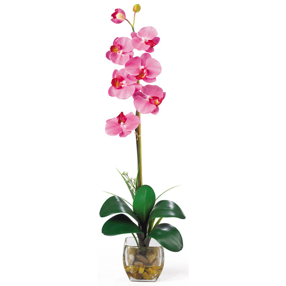Single Phalaenopsis Liquid Illusion Silk Flower Arrangement - SKU #1104 - 3