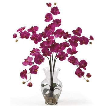 Phalaenopsis Liquid Illusion Silk Flower Arrangement - SKU #1106