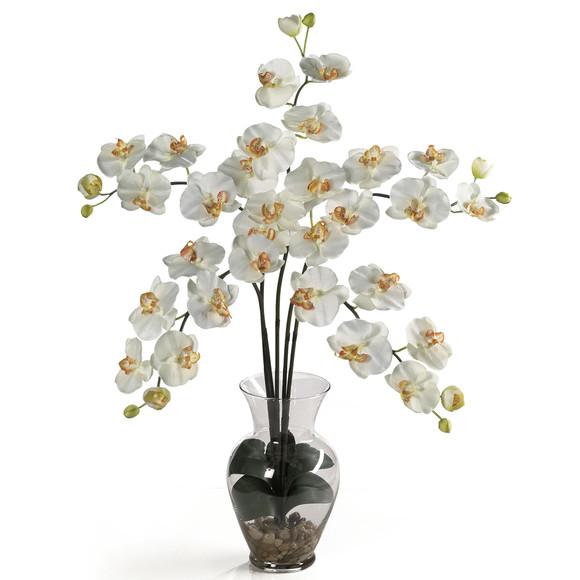 Phalaenopsis Liquid Illusion Silk Flower Arrangement - SKU #1106 - 5