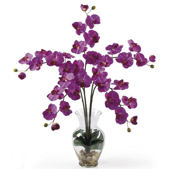 Phalaenopsis Liquid Illusion Silk Flower Arrangement - SKU #1106 - 1