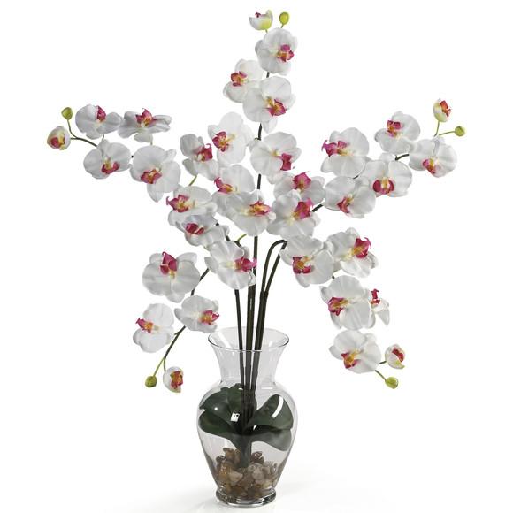 Phalaenopsis Liquid Illusion Silk Flower Arrangement - SKU #1106 - 2