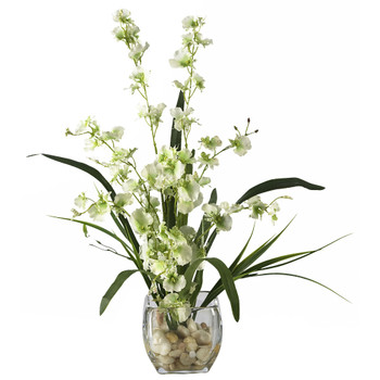 Dancing Lady Orchid Liquid Illusion Silk Flower Arrangement - SKU #1119-GR