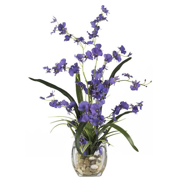 Dancing Lady Orchid Liquid Illusion Silk Flower Arrangement - SKU #1119 - 1