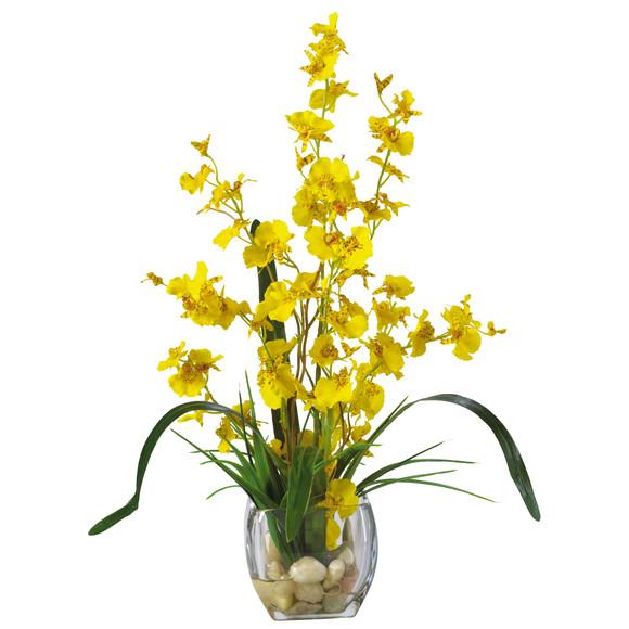 Dancing Lady Orchid Liquid Illusion Silk Flower Arrangement - SKU #1119 - 2