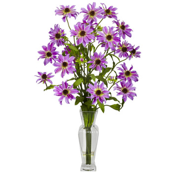 Cosmos w/Vase Silk Flower Arrangement - SKU #1172-PP