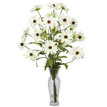 Cosmos w/Vase Silk Flower Arrangement - SKU #1172