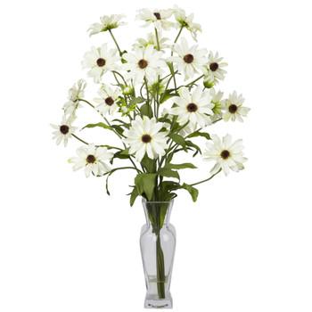 Cosmos w/Vase Silk Flower Arrangement - SKU #1172