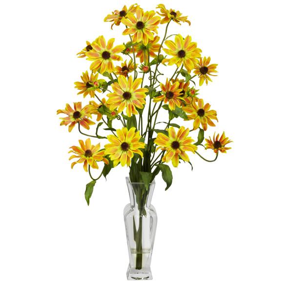 Cosmos w/Vase Silk Flower Arrangement - SKU #1172 - 2