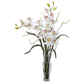 Cymbidium Silk Flower Arrangement - SKU #1183