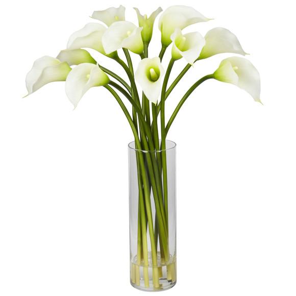 Mini Calla Lily Silk Flower Arrangement - SKU #1187 - 3