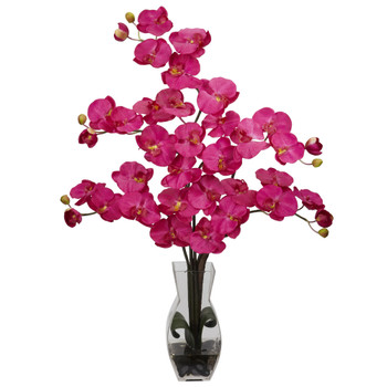 Phalaenopsis w/Vase Silk Flower Arrangement - SKU #1191