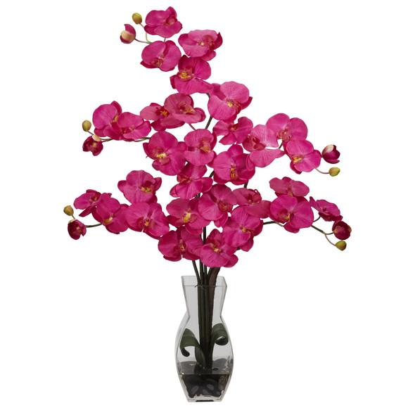 Phalaenopsis w/Vase Silk Flower Arrangement - SKU #1191