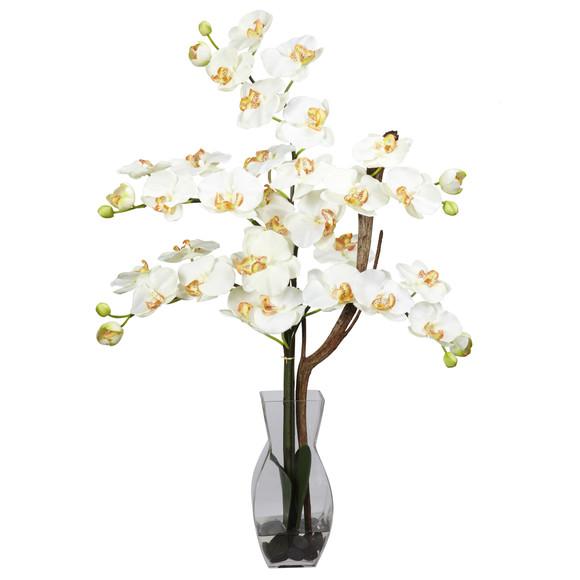 Phalaenopsis w/Vase Silk Flower Arrangement - SKU #1191 - 4