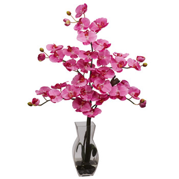 Phalaenopsis w/Vase Silk Flower Arrangement - SKU #1191-DP