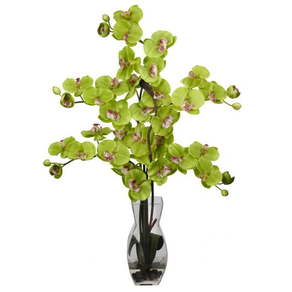 Phalaenopsis w/Vase Silk Flower Arrangement - SKU #1191 - 6
