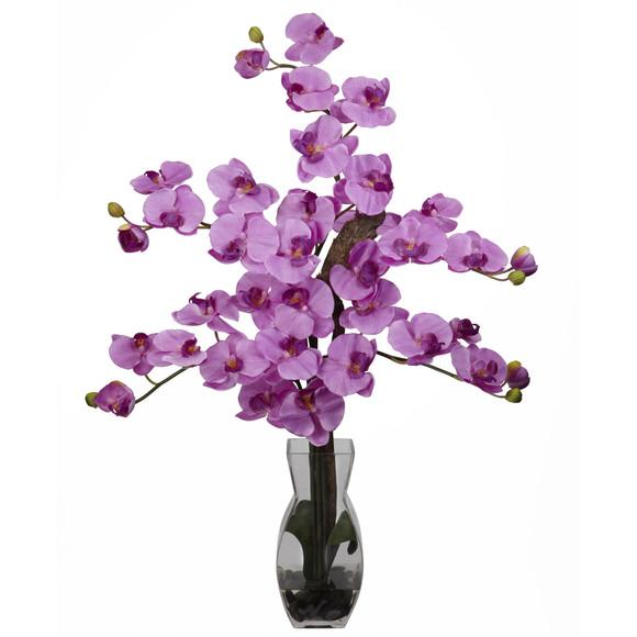 Phalaenopsis w/Vase Silk Flower Arrangement - SKU #1191 - 5